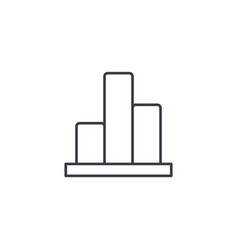 graph chart statistic diagram thin line icon vector image vector image