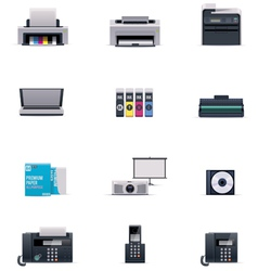 office electronics icon set vector image vector image