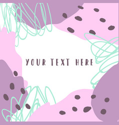 paint frame hand drawn vector image