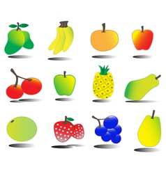 tasty fruits set tutty frutty vector image vector image
