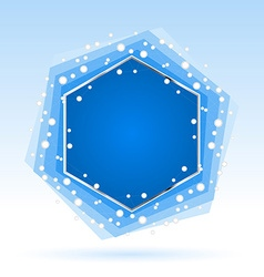 Abstract blue hexagon vector