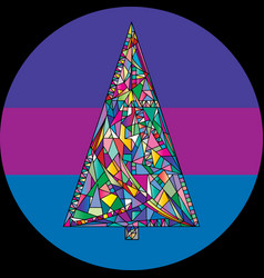 Abstract christmas tree in modern vector