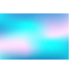 abstract digital landscape with particles dots and vector image