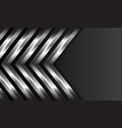 Abstract silver arrow direction pattern dark grey vector