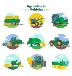 Agricultural Vehicles Concept vector