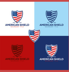 american shield vector image