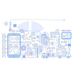 app development infographics vector image