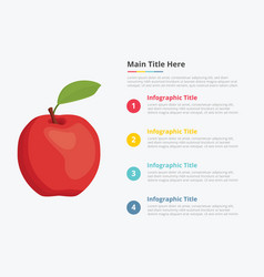 apple fruit infographics with some point title vector image