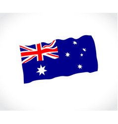 Australia flag on white background vector