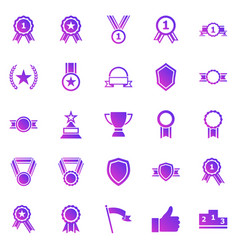 award gradient icons on white background vector image