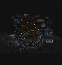 background with futuristic user interface vector image