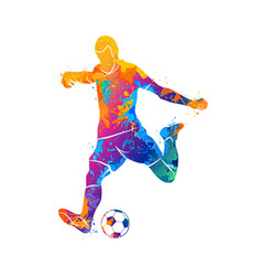 ball soccer player vector image