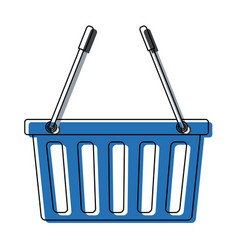 Basket shopping empty market commerce business vector