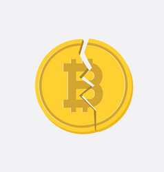 bitcoin cash flat design vector image
