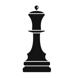 black queen chess icon simple style vector image
