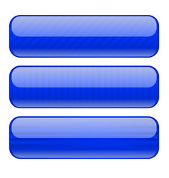 Blue buttons blank icons with stripe design vector