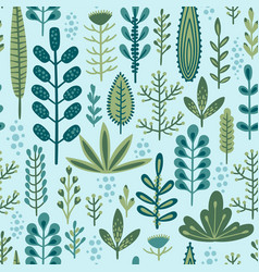 botanical seamless pattern design for vector image