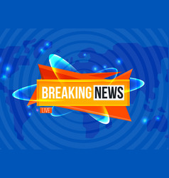 breaking news sting on blue background vector image