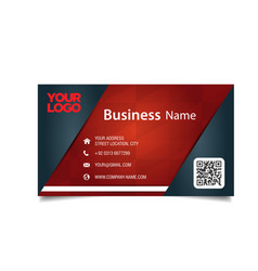 Business card black and red background imag vector