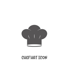 chef hat icon simple flat style vector image