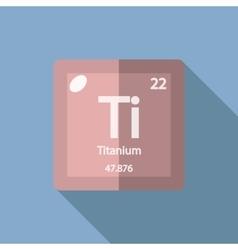 Chemical element Titanium Flat vector image