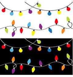 Christmas light set holiday festive xmas vector