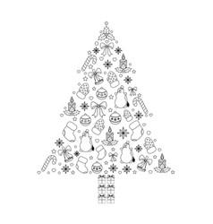 christmas tree on white vector image