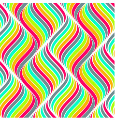 colored seamless abstract pattern waves background vector image