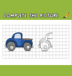 Complete the picture of a car copy the picture vector