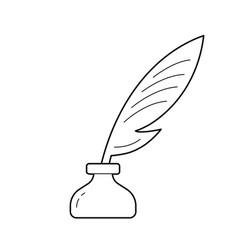 Copywriting line icon vector