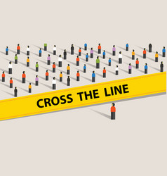 Cross the line limit of social control group of vector
