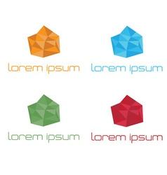 Crystal abstract template set polygon art vector image
