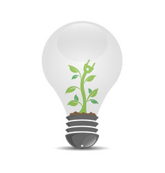 detail realistic logo template with plant growing vector image