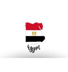 Egypt country flag inside map contour design icon vector