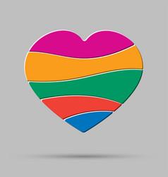 element color heart pieces puzzle symbol love vector image
