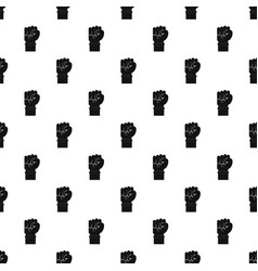 fist pattern vector image