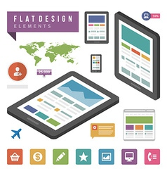 Flat ector infographic design elements concept and vector image