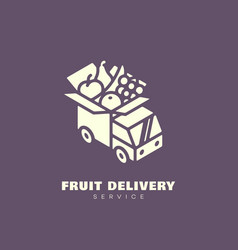Fruit delivery service logo vector
