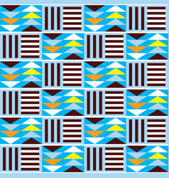 Geometric tribal kente seamless pattern af vector