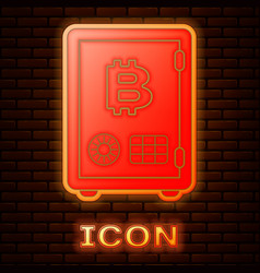 Glowing neon prostake icon isolated on brick vector
