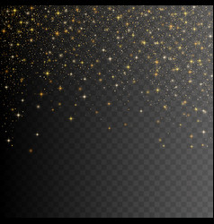 Gold glitter stardust background vector