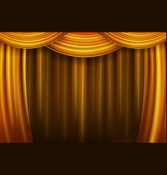 gold theater curtain vector image