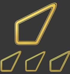 Golden line success logo design set vector