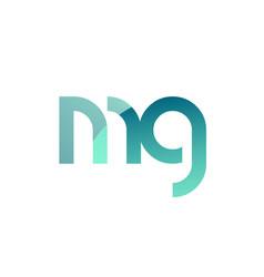 Green gradient pastel modern mg m g alphabet vector