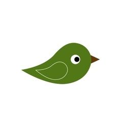 Green icon of bird vector