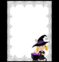 halloween template with space for text with of vector image