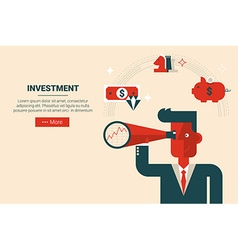 Investment strategy concept vector
