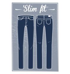 jeans slim fit vector image