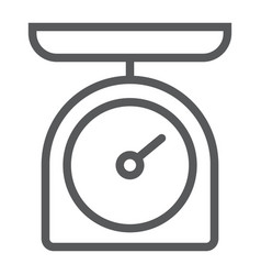 kitchen scale line icon kitchen and cooking vector image