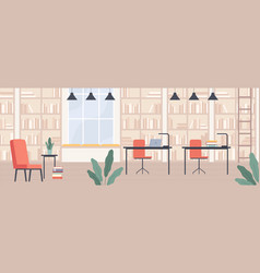 library modern public library interior vector image
